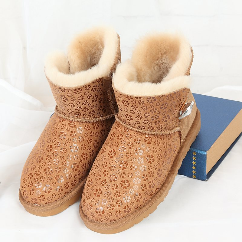 100% authentic to ensure the integration of Australian sheep fur snow boots warm winter snow boots free delivery