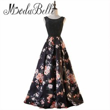 modabelle Floral Evening Gown Robe De Soiree 2017 Solde Black Long Prom Dresses 2017 Abiti Da Sera Lunghi