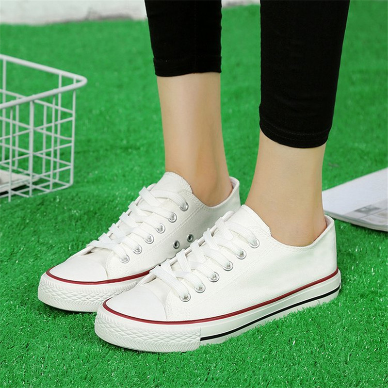 Women casual sneakers 2019 new white canvas shoes female spring summer woman students walking shoes Zapatos Tenis Feminino