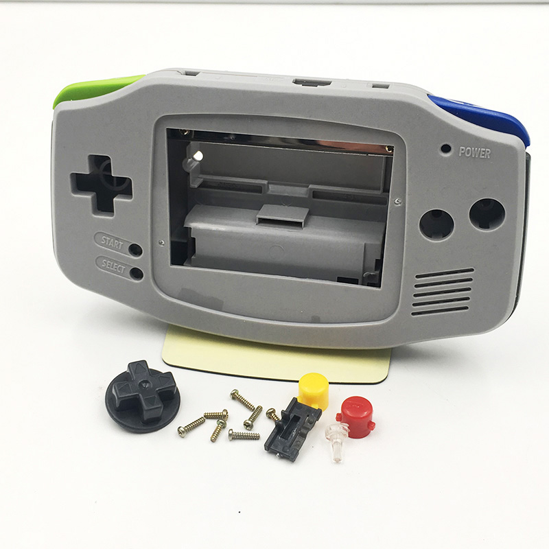 10sets Replacement For SNES SFC Edition Grey Housing Shell Cover Buttons For Nintendo Gameboy Advance GBA