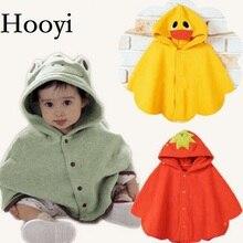 Outfits Poncho-Cape Baby-Coats Hooyi Cloak Outerwear Fleece Girl's Boys Children's Leopard