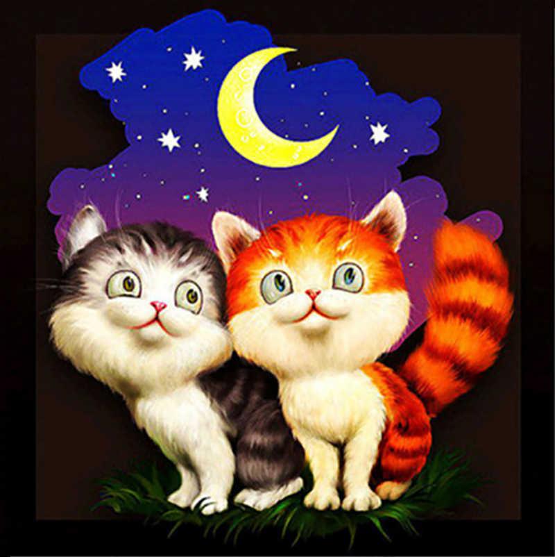 Черно, гифка котята спокойной ночи