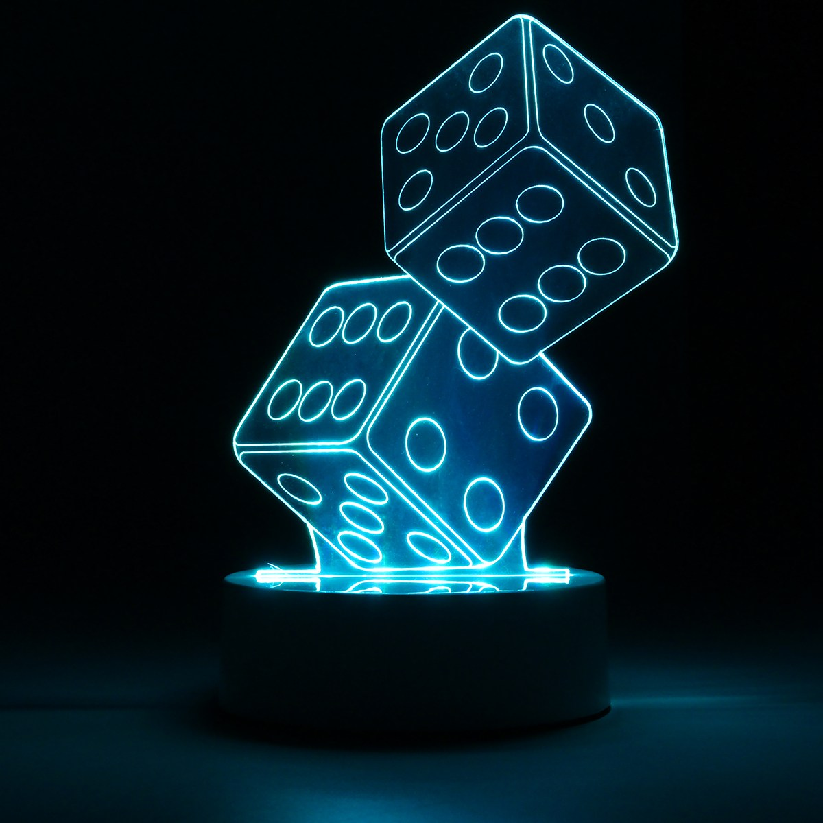 Motion Activated Led Dice Dual Shaped Controller Button Switch 3d Night Light Atmosphere Desk Table Lamp Cafe Bar Birthday Party Home Decor Gifts In Lights From