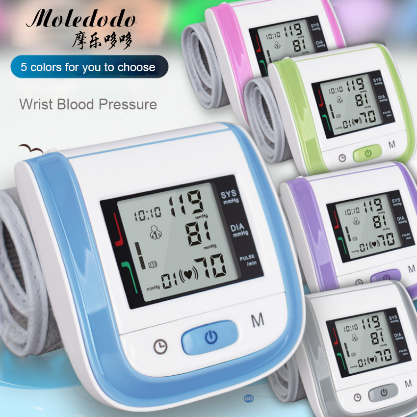 Wrist Type Automatic Electronic Blood Pressure Monitor Health Wrist Blood Pressure Monitor English Models No Voice D40