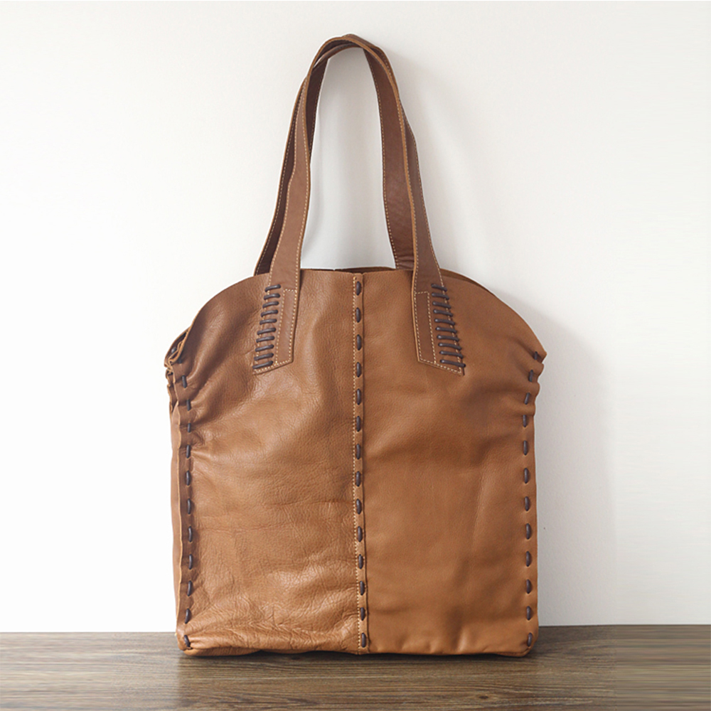 Womens Vintage Cow Leather Tote Shopper Shoulder BagWomens Vintage Cow Leather Tote Shopper Shoulder Bag