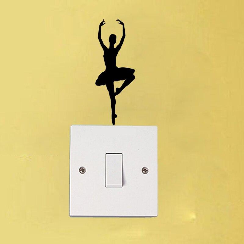 Балетные костюмы для танцев модные wal Наклейки винил свет переключатель этикета Домашний Декор 6ss0193