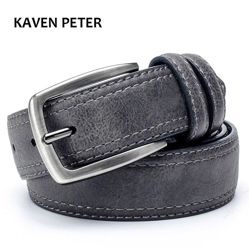 Mens Belts Luxury Branded Leather Belt  Men Famous Belt For Man Designer Belts With Vintage Style For Jeans 3.5 Cm Wide