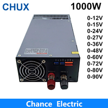 12V 15V 24V 27V 36V 48V 60V 72V 80V 90V Switching Power Supply 1000W 110V 220V  AC to DC Power Supply 1200w 12v 72v 90v 110v adjustable switching power supply for led strip light ac to dc suply s 1200 dianqi 13 5v 15v 24v
