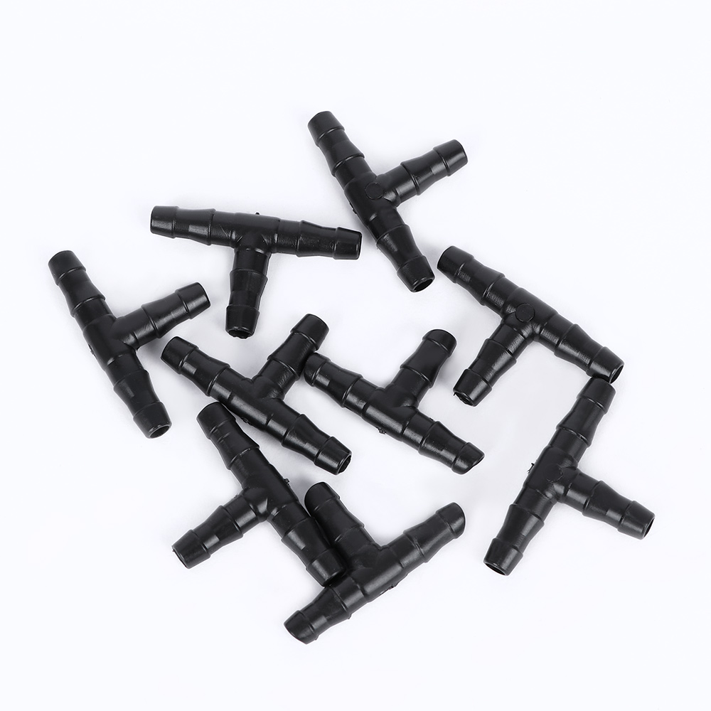 50 Pcs Irrigation Water Connectors 1/4 Inch Barb Tee Water Hose Pipe Hose Fitting Joiner Drip System For Hose Garden Accessories