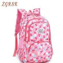 купить Girl School Bag Waterproof Light Weight Girls Backpack Bags Printing Backpack Child Backpacks For Teenage Adolescent Mochila по цене 1288.95 рублей