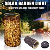 Solar Led Stump Light Outdoor Waterproof Garden Yard Lawn Decorative Lamp Decoration Lamp Warm White Solar Garden Light