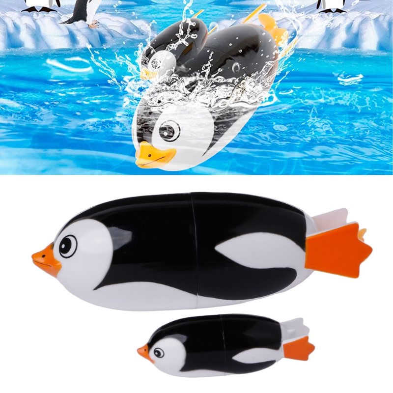 New Electric Penguin Bath Toy Animal Toy Swiming Toy Baby Educational Toy
