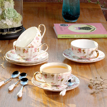 Нордическая керамическая кофейная чашка, набор элегантных цветов, фарфоровые чайные чашки и блюдца, европейская послеобеденная чайная чашка, чайные вечерние tazas de cafe home