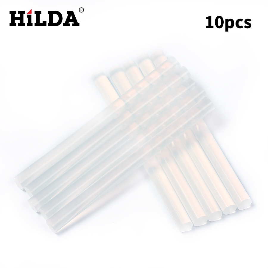HILDA 10Pcs/Lot 7mm X 100mm Hot Melt Glue Sticks For Electric Glue Gun Craft Album Repair Tools For Alloy Accessories