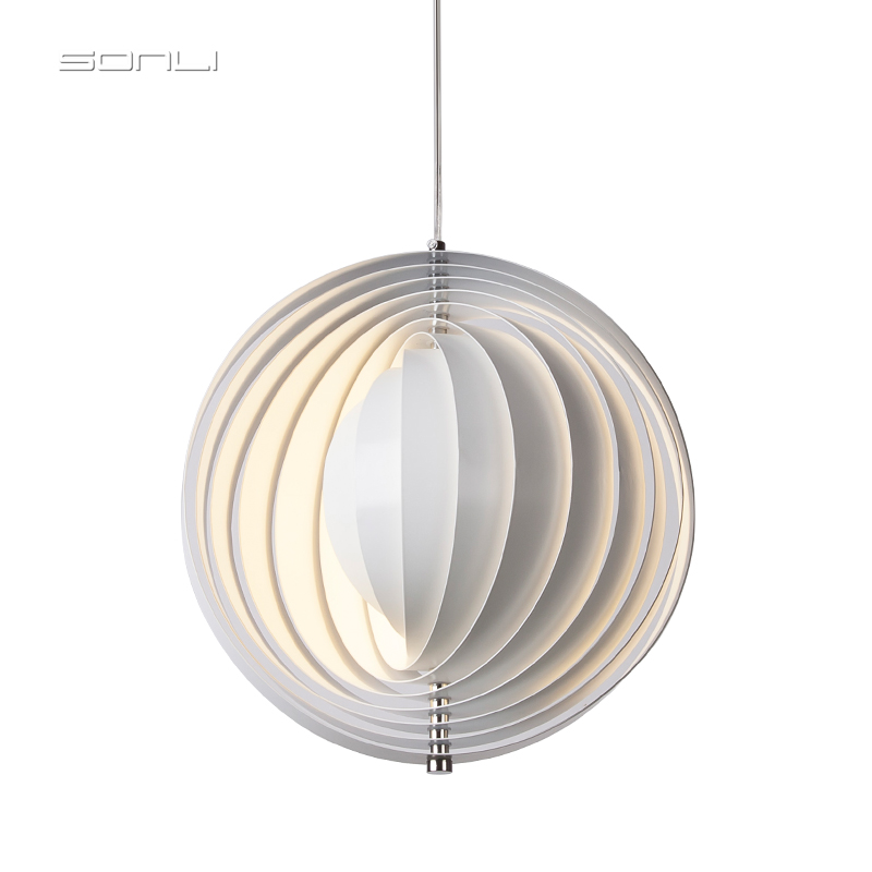 Nordic modern moon pendant light Retro minimalist Restaurant Bar living room bedroom lamp