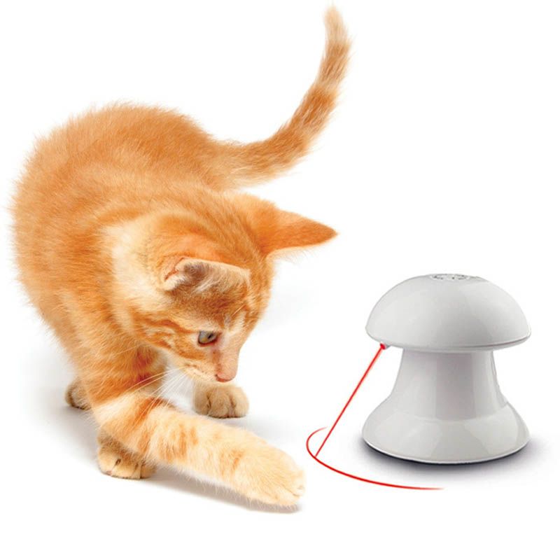 Pet Toy Cat Automatic Interactive Dart Laser 360 Degree Toys LED Pointer Funny Training Goods For Cats Kitty PT5012 (2)