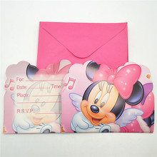 buy minnie party invitation and get free shipping on aliexpress com