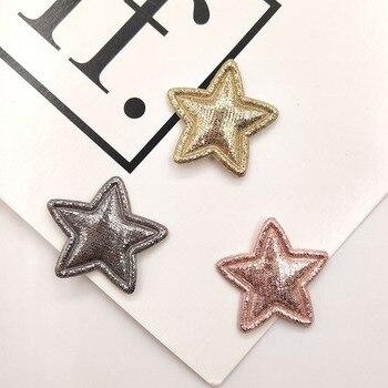 100 Uds 2,5 cm lentejuela brillante estrella parches acolchados apliques para ropa suministros de costura DIY decoración del Arco del pelo