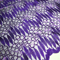 New Pure Color Small Circles With Sequins And Leaves Pattern Tulle Lace PF31 Free Shipping And