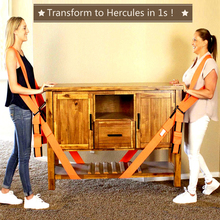 Arbeitskraft Moving Arm Gabelstapler Hebe Haushalts Appliance Möbel Bewegen Gürtel Seil Werkzeug Set Lager 600kg Upgrade Langlebig