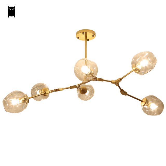 Clear Glass Bubble Ceiling Light Fixture Contemporary Lamp Suspended ...