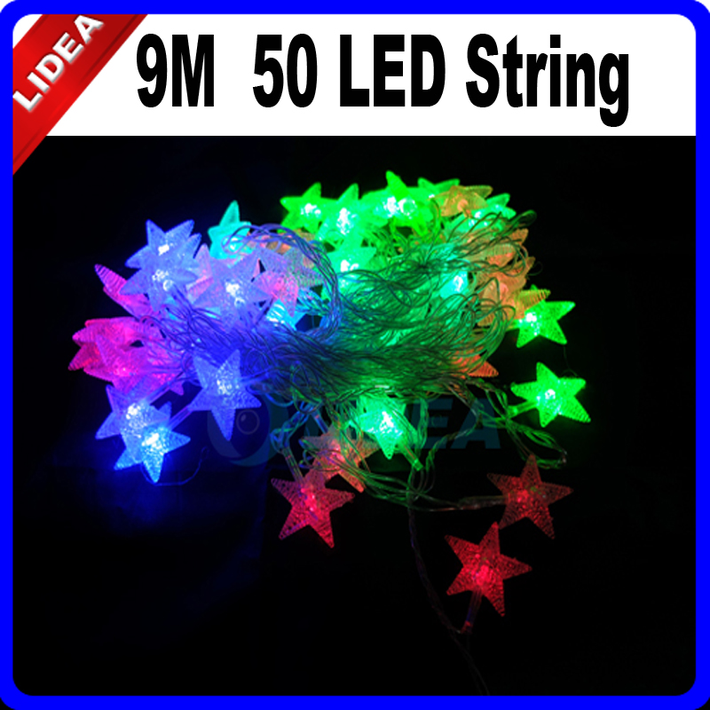 9M 50 LED Star Wedding Party Garden Xmas Navidad Decoration Outdoor Fairy String New Year Light Garland LED Christmas CN C-25