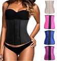 2017 real hot shapers body látex shaper underbust osso de aço espartilho cintura instrutor mulheres shapewear cincher slimming a correia de borracha