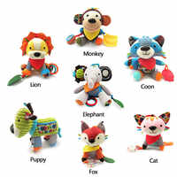 Baby Toy Plush Doll Stuffed Bed Hanging Rattles Teether Safe Crib Revolves Around Stroller Pendant Animal