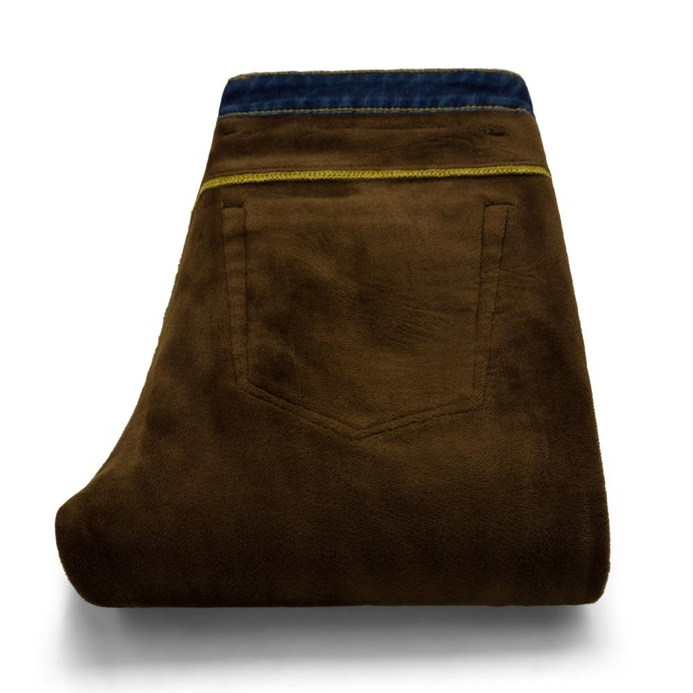 2017 зима новый теплый джинсы мужская мода упругие стретч плюс небольшой упругой ноги брюки случайные мужской тонкий джинсовые брюки 38 40 42