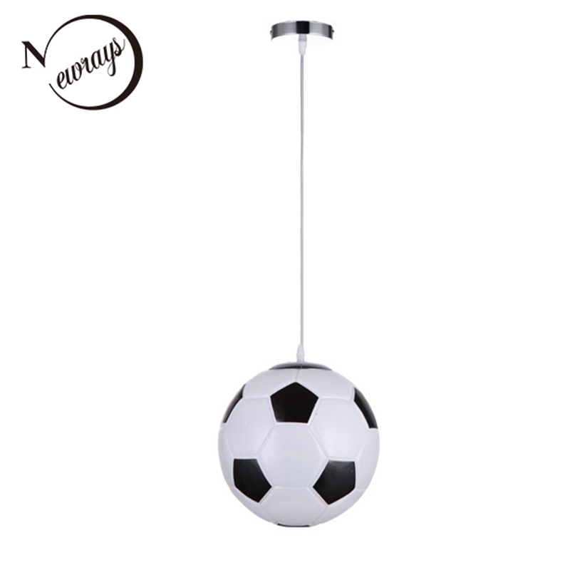 Modern Simplicity football glass pendant lamp LED E27 220V suspension pendant Light Fixture For living room bedroom hallway cafe