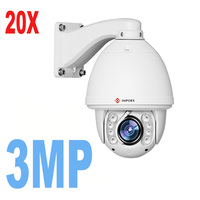 IP PTZ Auto Tracking 3MP 1080P 20X 30X Optical Zoom P2P Onvif IR Outdoor Built In