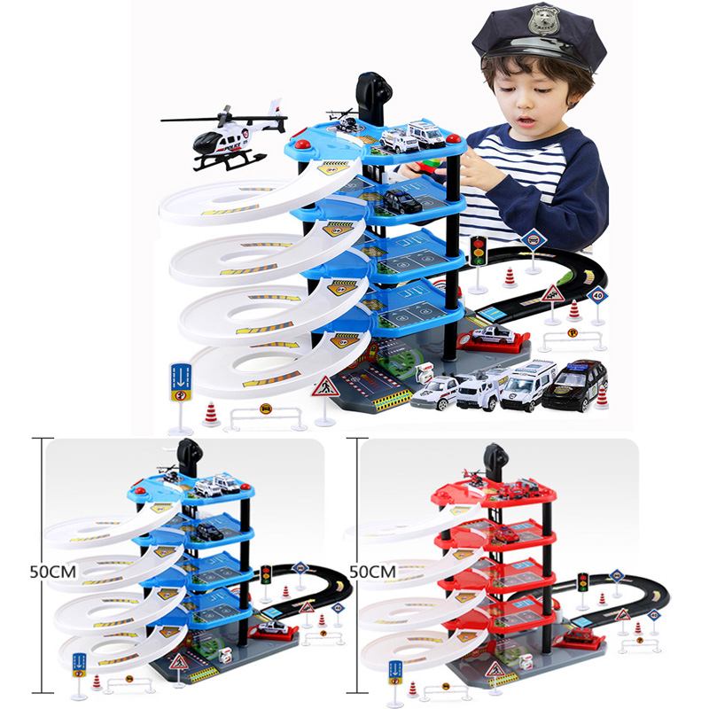 Nouveaux jouets de voiture pour enfants bricolage modèle de voiture de parc de 5 étages jouets pour enfants