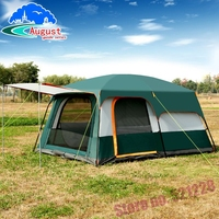 August 5 6 8 person 2 layer 1 living room 2 bed room family Party Self driving relief waterproof anti wind outdoor camping tent