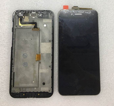 ФОТО 100% Geniune LCD Screen display+touch Digitizer with frame For Asus PadFone S PF500KL PF-500KL PF500 black color free shipping