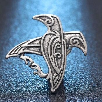 Norse vicинг одинs Ravens, подвеска, брошка, Викинга, Северный талисман, Lucky ювелирных изделий