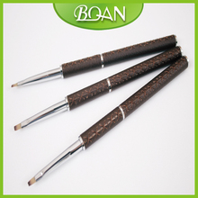 BQAN Free Shipping 6# Real Leather Coat Metal Handle Brushes for Nail Art Design Brush Nail Brush UV Gel