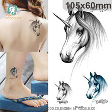 Halloween Waterproof Temporary Tattoos For Men And Women Personality 3d Sexy Unicorn Design Tattoo Sticker RC2245