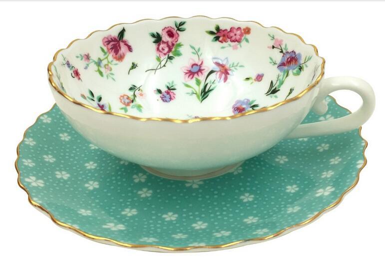 150 ml Blue Flower series China Porcelain Coffee Tea sets Cups Saucers elegant ladies favorite mother