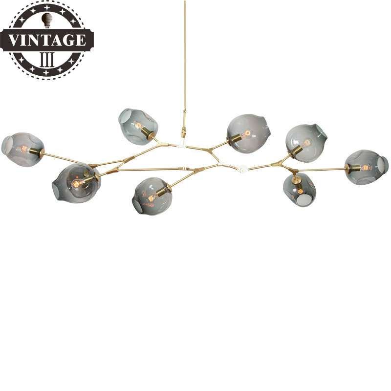 Creative Vintage Attic Industrial Pendant Lights Black/Gold Retro Decoration Glass lights for Bar /Stair/ Dining/Living Room