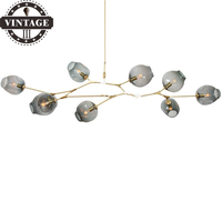 Creative Vintage Attic Industrial Pendant Lights Black/Gold Retro Decoration Glass lights for Bar /Stair/ Dining/Living Room