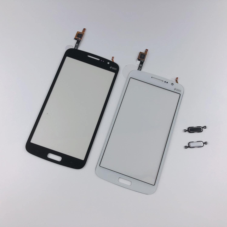 Для samsung Galaxy Grand 2 G7102 G7106 G7105 G7108 сенсорный экран дигитайзер передняя стеклянная панель + 3 М лента + домашняя кнопка возврата клавиатуры
