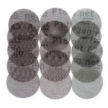 15Pcs Maglia Abrasivo Privo di Polvere di Levigatura Dischi 3 Pollici 75 millimetri Anti blocco Macinazione A Secco di Carta Vetrata 80 a 240 Grit