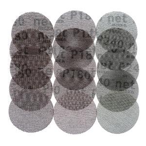 Image 1 - 15Pcs Mesh Abrasive Dust Free Sanding Discs 3 Inch 75mm Anti blocking Dry Grinding Sandpaper 80 to 240 Grit