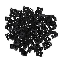 100 шт пластиковая проволока волнистый кабель крепление седло черное