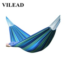 VILEAD Stable 200*150cm Camping Hammock Ultralight Portable Backpacking Hiking Travel Garden Swing Hanging Chair Rainbow color