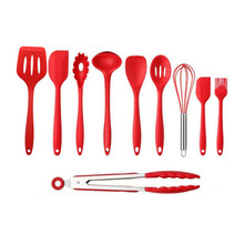 10PCS/SET Environmental Safe Silicone Cooking Tools Practical Home Kitchen Dinnerware Tableware Cooking Gadgets Tools