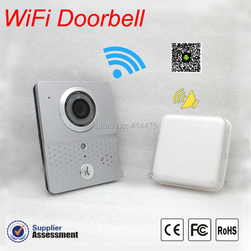 New Wireless wifi IP Doorbell camera video Recording Door Phone intercom with A Small indoor Bell Kit Mobile smart phone control new wifi global doorbell camera wireless video intercom ip video door phone wireless door bell