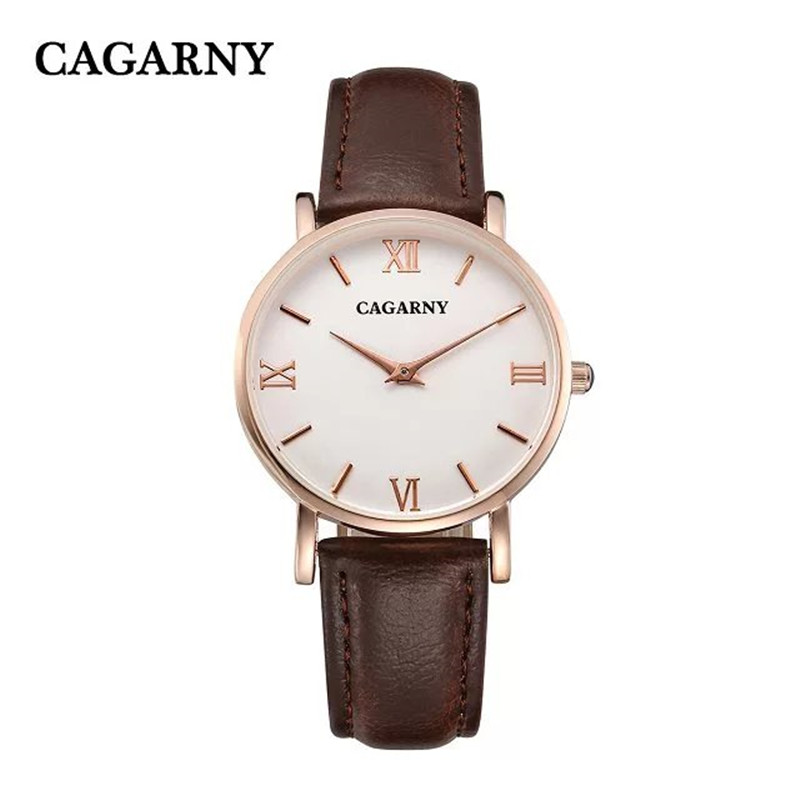 36MM Casual slim rose gold Rome waterproof  leather women watches lady fashion style simplity wristwatch with japan movement