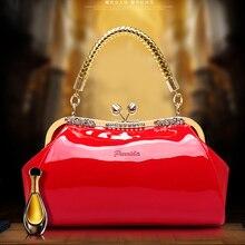 2017 new casual fashion handbags bridal bag wedding package bridesmaid handbag watercolor iron mouth stereotypes red envelopes