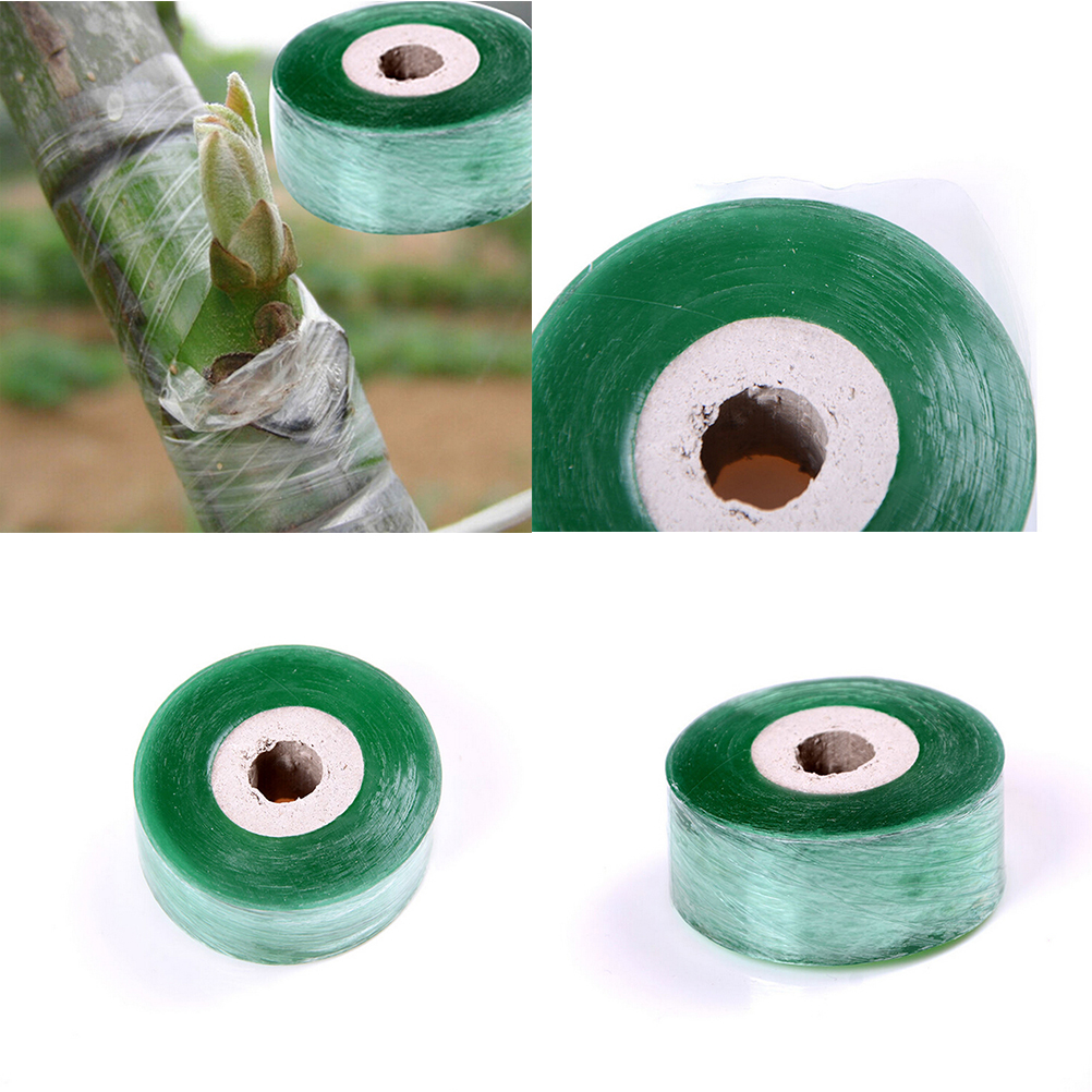 2x100M 1Roll Nursery Grafting Tape Stretchable Self-adhesive Garden Flower Vegetable Grafting Tape Supplies Plants Pruning Tools